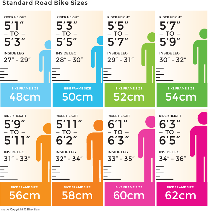 bike sizes road
